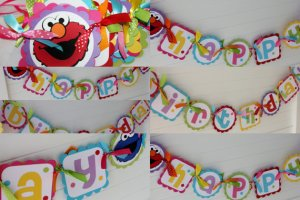 Elmo Banner - Courtesy of Pocketfullofglitter on etsy.com