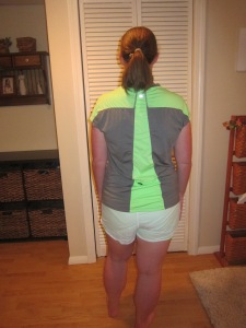 Nora V Neck and Make Run Short In Real Life - Back View
