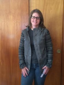 Coffeeshop Kennedi Knit Sleeve Cargo Jacket
