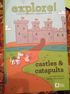 explore! magazine - Castles & Catapaults Sept. Kiwi Crate
