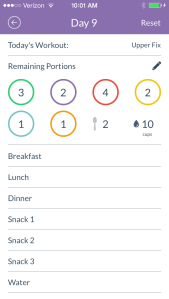 Tracking Containers in the 21 Day Fix App