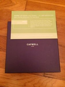 Birchbox December 2014 - Capwell and Company