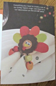 Kiwi Crate Holiday Turkey Napkin Rings